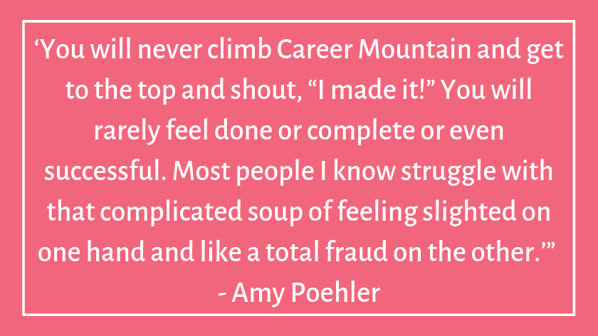 This image has an empty alt attribute; its file name is amy-poehler-celebrity-quotes-about-imposter-syndrome.png