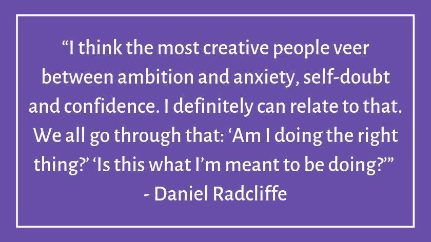 This image has an empty alt attribute; its file name is daniel-radcliffe-celebrity-quotes-about-imposter-syndrome.png
